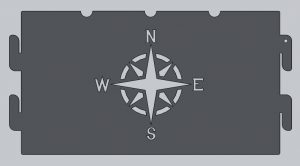 Compass Fire Ring Cutout