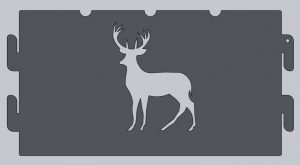 Deer Cutout Fire Ring Panel