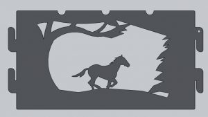 Wild Horse Fire Ring Cutout
