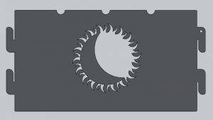 Sun Moon Fire Ring Cutout