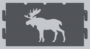 Moose Fire Ring Cutout